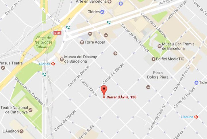 Trasladamos nuestra sede principal de Barcelona. Carrer d'Àvila, 138. 3a planta. 08018 Barcelona