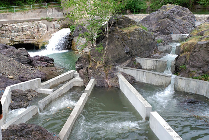 Fish ladder of the Rocasses HPP